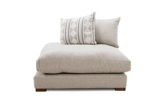 Pillow Back Left Hand Facing Chaise End Unit