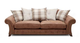 Woodland 4-zits sofa losse rugkussens