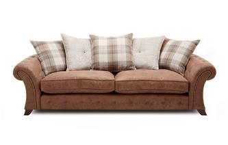 4-zits sofa losse rugkussens Oakland