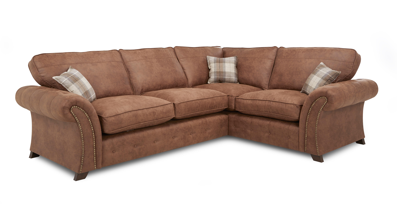 Woodland Left Hand Facing 3 Seater Formal Back Corner Sofa Oakland