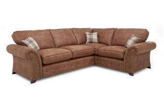 Linkszijdig 3-zits Deluxe hoeksofa bed met vaste kussens  Oakland