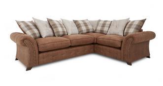 Woodland Linkszijdige 3-zits Deluxe hoek sofabed met losse kussens