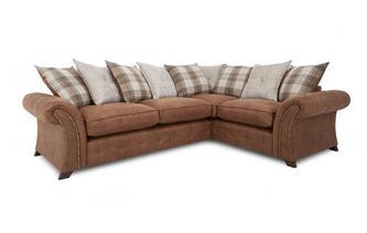 Linkszijdige 3-zits Deluxe hoek sofabed met losse kussens  Oakland