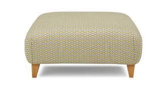 Woodlea Pattern Large Footstool
