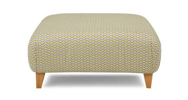 Woodlea Pattern Large Footstool