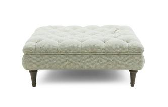 Pattern Square Buttoned Footstool