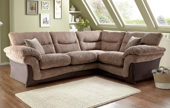 Wyndham Left Arm Facing 2 Piece Corner Sofa Wyndham Rib
