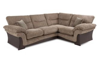 Left Arm Facing 2 Piece Corner Sofa Wyndham Rib
