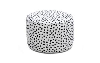 Pattern Medium Round Footstool