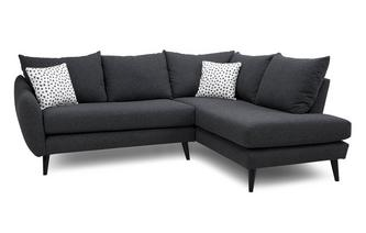 Left Hand Facing Open End Corner Sofa