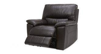Zafira Leather and Leather Look Manual Recliner Chair