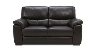 Zafira Leather and Leather Look 2 Seater Sofa