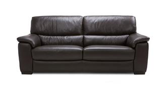 Zafira Leather and Leather Look 3 Seater Sofa