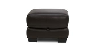 Zafira Leather and Leather Look Storage Footstool