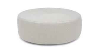 Zahara Plain Round Footstool