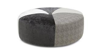 Zahara Pattern Round Footstool