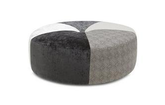 Patroon ronde voetenbank Footstool Zahara