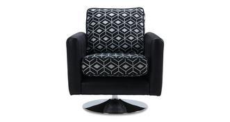 Zander Pattern Swivel Chair