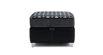 Zander Pattern Top Storage Footstool