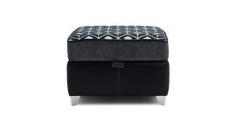 Zander Pattern Top Storage Footstool