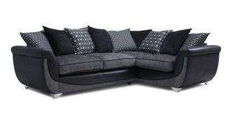 Zander Left Hand Facing Pillow Back 3 Seater Corner Sofa