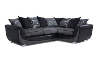 Left Hand Facing Pillow Back 3 Seater Corner Sofa