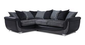 Zander Right Hand Facing Pillow Back 3 Seater Corner Sofa