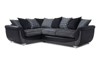 Right Hand Facing Pillow Back 3 Seater Corner Sofa