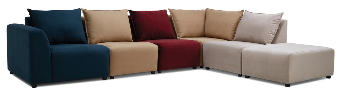 Zania corner sofa, left hand facing