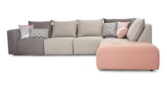 Zania Left Hand Facing Arm Corner Sofa