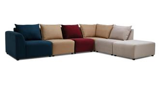 Zania Zania Left Hand Facing Arm Corner Sofa