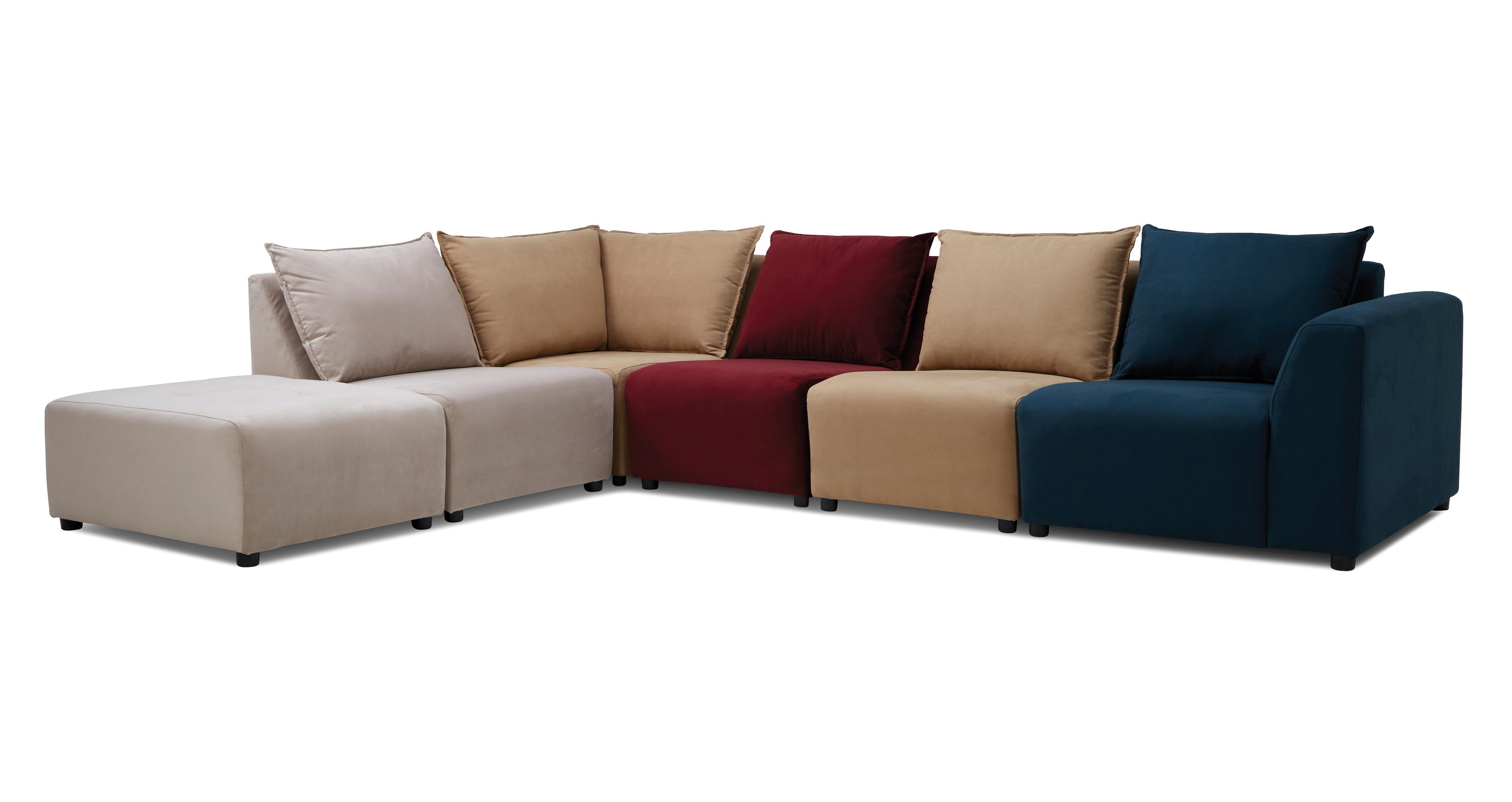 Zania: Plain Zania Right Hand Facing Arm Corner Sofa