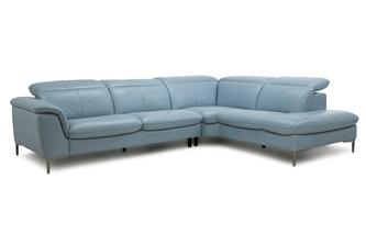 Zannoni Option A Left Hand Facing Arm 2 Piece Corner Sofa New Club