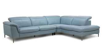 Zannoni Option A Left Hand Facing Arm 2 Piece Corner Sofa