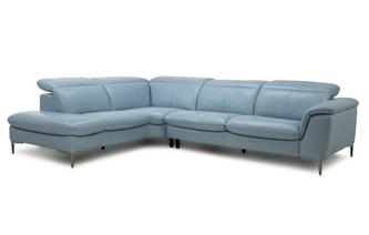 Option D Right Hand Facing Arm 2 Piece Corner Sofa New Club