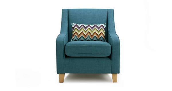 Zapp Accent Chair with Pattern Bolster