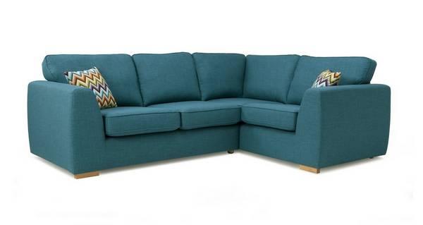 Zapp Left Hand Facing 2 Seater Corner Sofa Bed