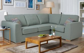Zapp Left Hand Facing 2 Seater Corner Sofa Bed Revive