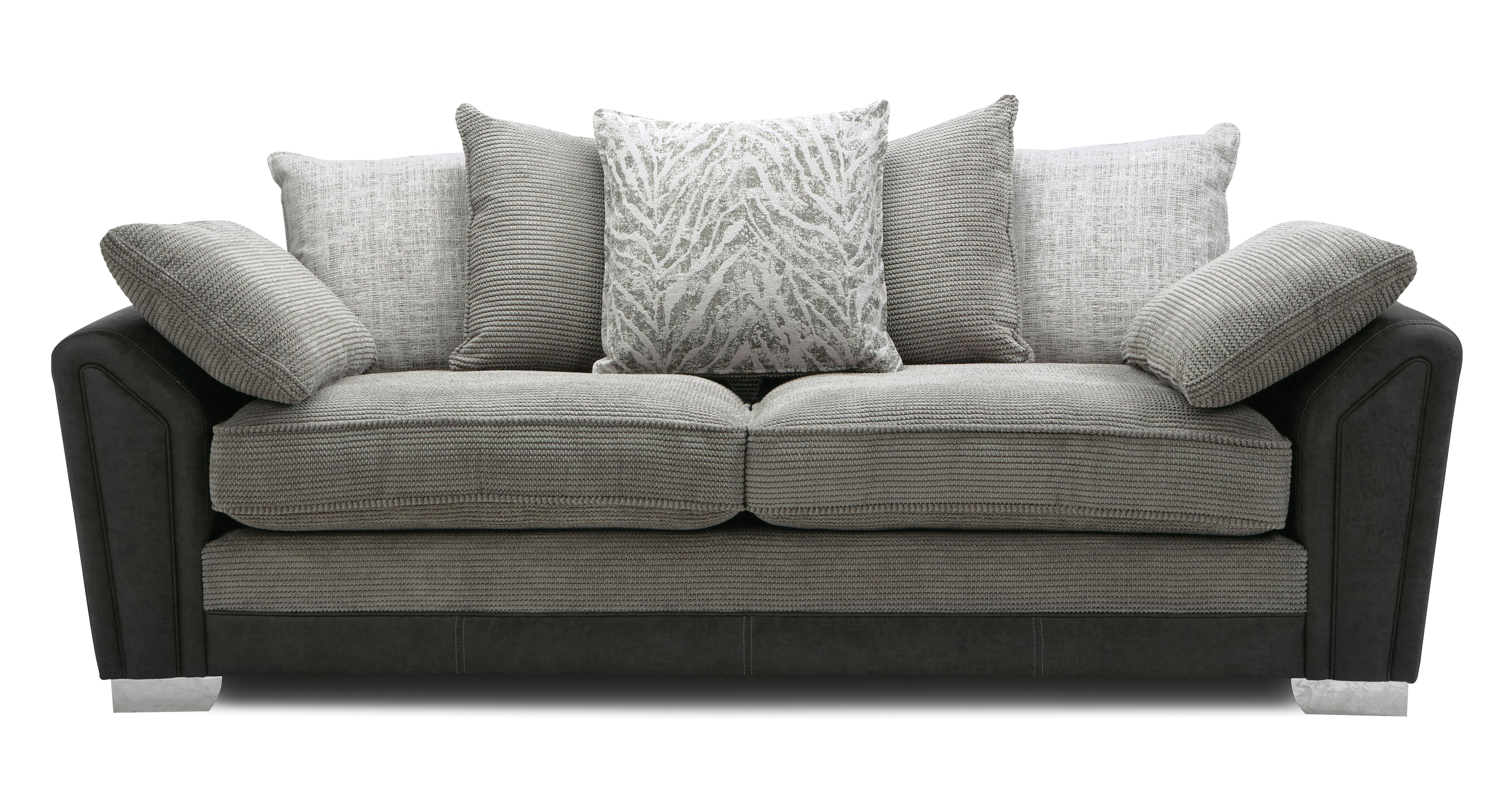 Zara: Pillow Back 4 Seater Sofa