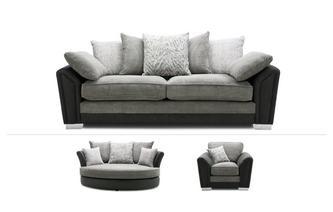 4 Seater Sofa, Cuddler & Chair
