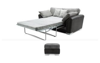 2 Seater Sofa Bed & Stool