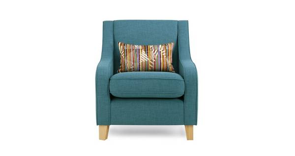 Zest Accent Chair with Pattern Bolster