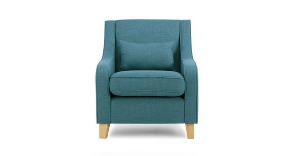 Zest Accent Chair with Plain Bolster