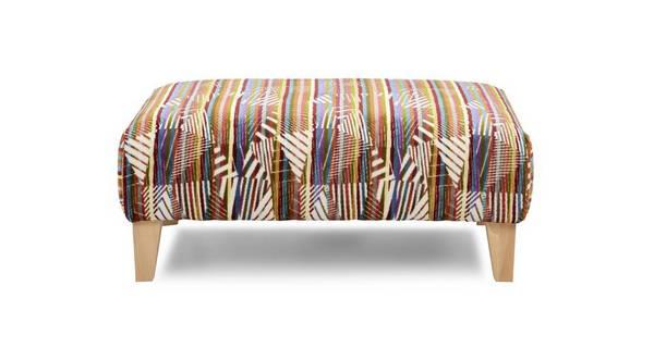 Zest Pattern Banquette Footstool