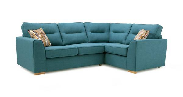 Zest Left Hand Facing 2 Seater Corner Sofa Bed