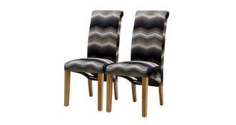 Zigzag Dining Chair Reeks van 2 zigazg stoelen