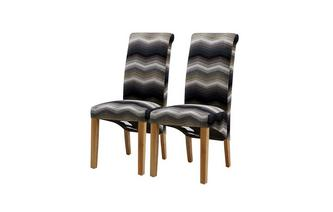 Set of 2 Zigzag Dining Chairs