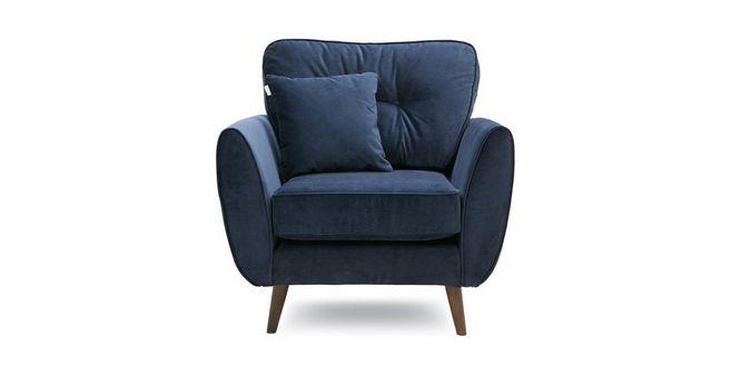Zinc: Velvet Armchair