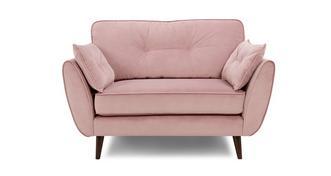 Zinc Velvet Cuddler Sofa