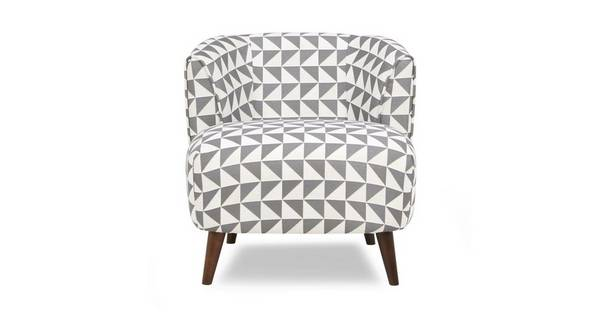 Zinc Pattern Tub Chair